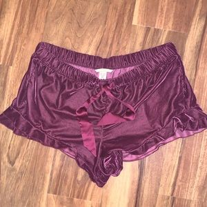 Victoria's Secret Velvet Sleep Shorts